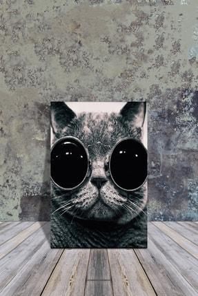 Mdf Tablo // Gözlüklü Kedi 20x30 PS467