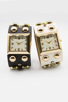 Spectrum Kadın Altın Rengi Özel Tasarım Saat Seti 2'li W154464 1