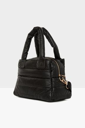 Bagmori Kadın Siyah Üç Bölmeli Şişme Çanta M000005141 1