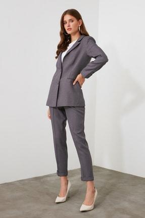 TRENDYOLMİLLA Gri Basic Pantolon TWOAW21PL0146 2