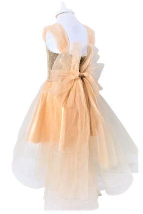 CHIC Bebe Kız Çocuk Gold Organze Abiye Elbise 1