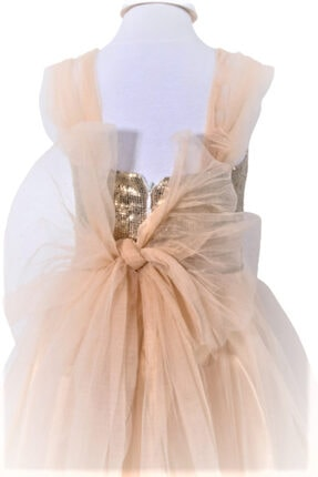CHIC Bebe Kız Çocuk Gold Organze Abiye Elbise 2