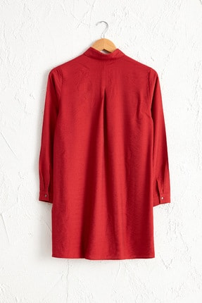 LC Waikiki Kadın Mat Kırmızı Tunik 0SR756Z8 1