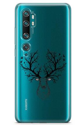 Zipax Oppo Reno 2z 2019 Kılıf Geyik Ve Orman Desenli Baskılı Silikon Kılıf 2