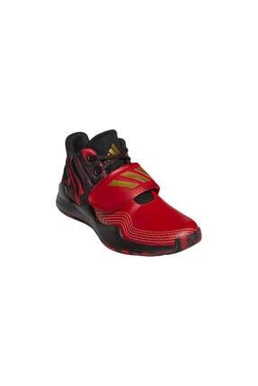adidas Unisex Kırmızı Deep Threat (gs) Spor Ayakkabı 3