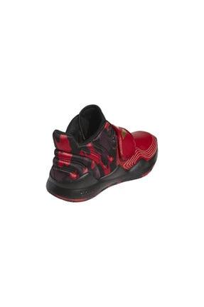 adidas Unisex Kırmızı Deep Threat (gs) Spor Ayakkabı 4
