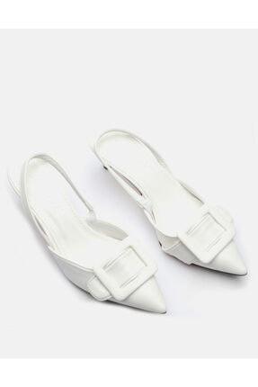 Jorbinol Kadın Beyaz İnce Topuk Ayakakbı 0
