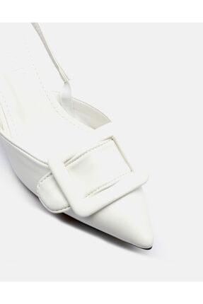 Jorbinol Kadın Beyaz İnce Topuk Ayakakbı 2
