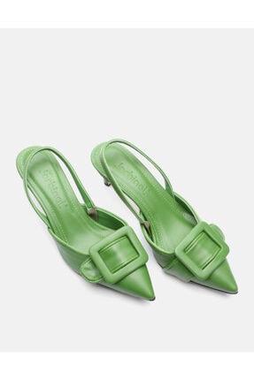 Jorbinol Kadın Yeşil Topuklu Ayakkabı 0