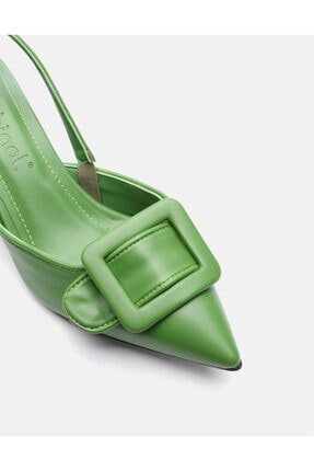 Jorbinol Kadın Yeşil Topuklu Ayakkabı 2