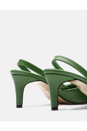 Jorbinol Kadın Yeşil Topuklu Ayakkabı 3