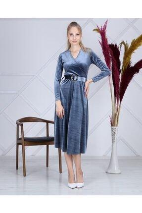 Apple Cix Ithal Kadife Elbise (kemerli) 0