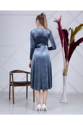 Apple Cix Ithal Kadife Elbise (kemerli) 3