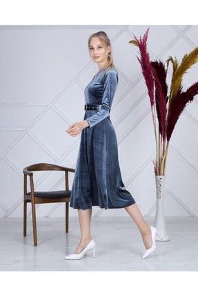 Apple Cix Ithal Kadife Elbise (kemerli) 4