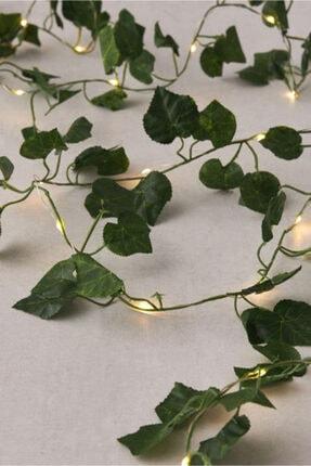 Partini Seç Dekoratif Yeşil Yapraklı Yapay Sarmaşık Gün Işığı Led Işık 3 mt 30 Led 2