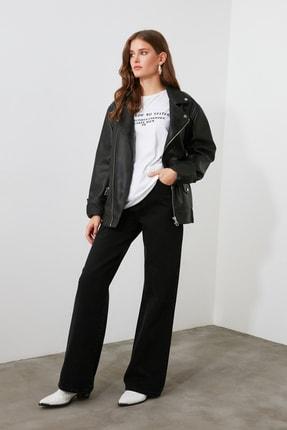 TRENDYOLMİLLA Siyah Yüksek Bel Wide Leg Jeans TWOAW21JE0099 0
