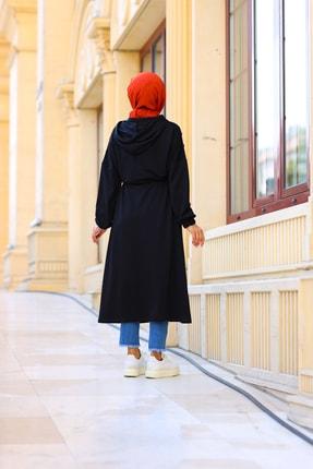 Moylin Kadın Siyah Garnili Uzun Hırka 3