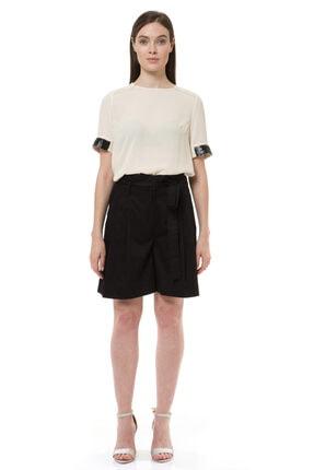 BİRELİN Kadın Ekru Payet İşlemeli Bluz 0