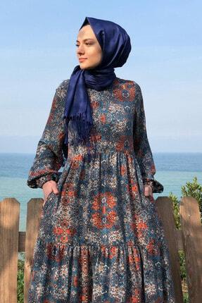 KÜBRA BİRİKTİR Kadın Lacivert Duru Elbise 0
