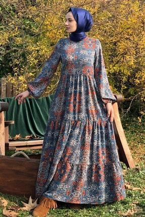 KÜBRA BİRİKTİR Kadın Lacivert Duru Elbise 1