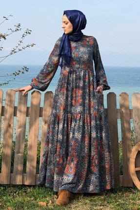 KÜBRA BİRİKTİR Kadın Lacivert Duru Elbise 2