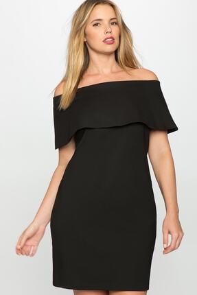 Picture of Kadın Siyah Deonty Büyük Beden Elbise