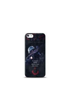 Kılıf Madeni Iphone 5 Asker Tasarımlı Telefon Kılıfı 0