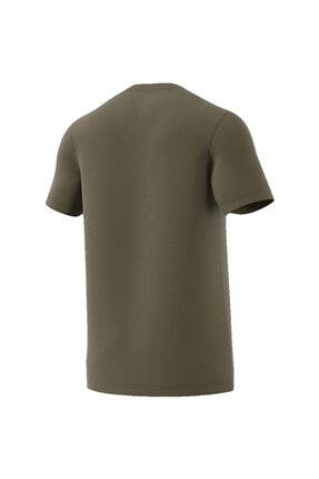 adidas Erkek Haki Baskılı T-shirt 1