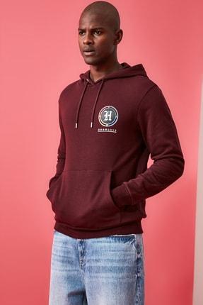 TRENDYOL MAN Bordo Erkek Lisanslı Regular Fit Sweatshirt 3