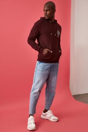 TRENDYOL MAN Bordo Erkek Lisanslı Regular Fit Sweatshirt 4