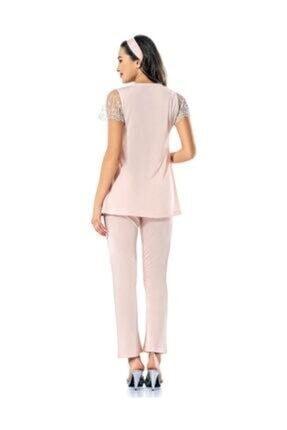 Şahin Kadın Somon Rengi Hamile Kısa Kollu Pijama Takımı 1