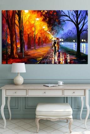 Nazenin Design Sonbaharda Aşk Pastel Doğa Kanvas Tablo 150x100 cm 0