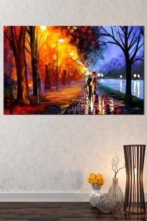 Nazenin Design Sonbaharda Aşk Pastel Doğa Kanvas Tablo 150x100 cm 1
