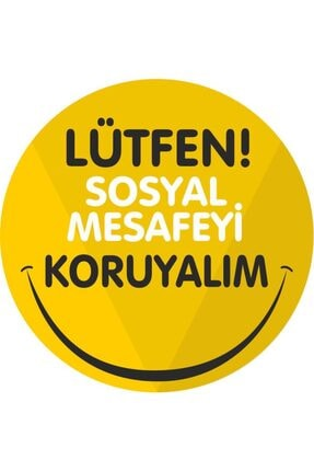 3M Sosyal Mesafe Yer Sticker 0