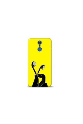 Kılıf Madeni Lg Q7 Kulaklık Sarı Koleksiyon Telefon Kılıfı 0