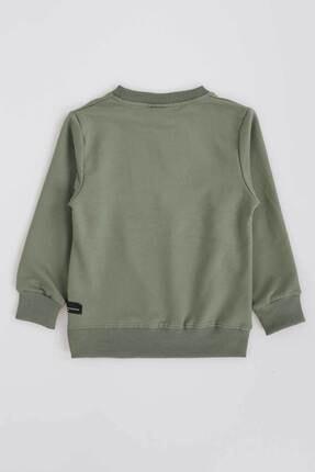 Ahenk Kids Kız Çocuk Haki Baskılı Sweatshirt 1