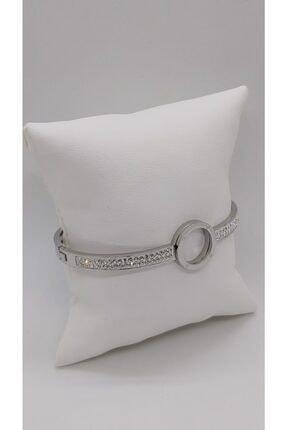 Ananas Accessories Kadın Çelik Taşlı Bileklik Gümüş 2