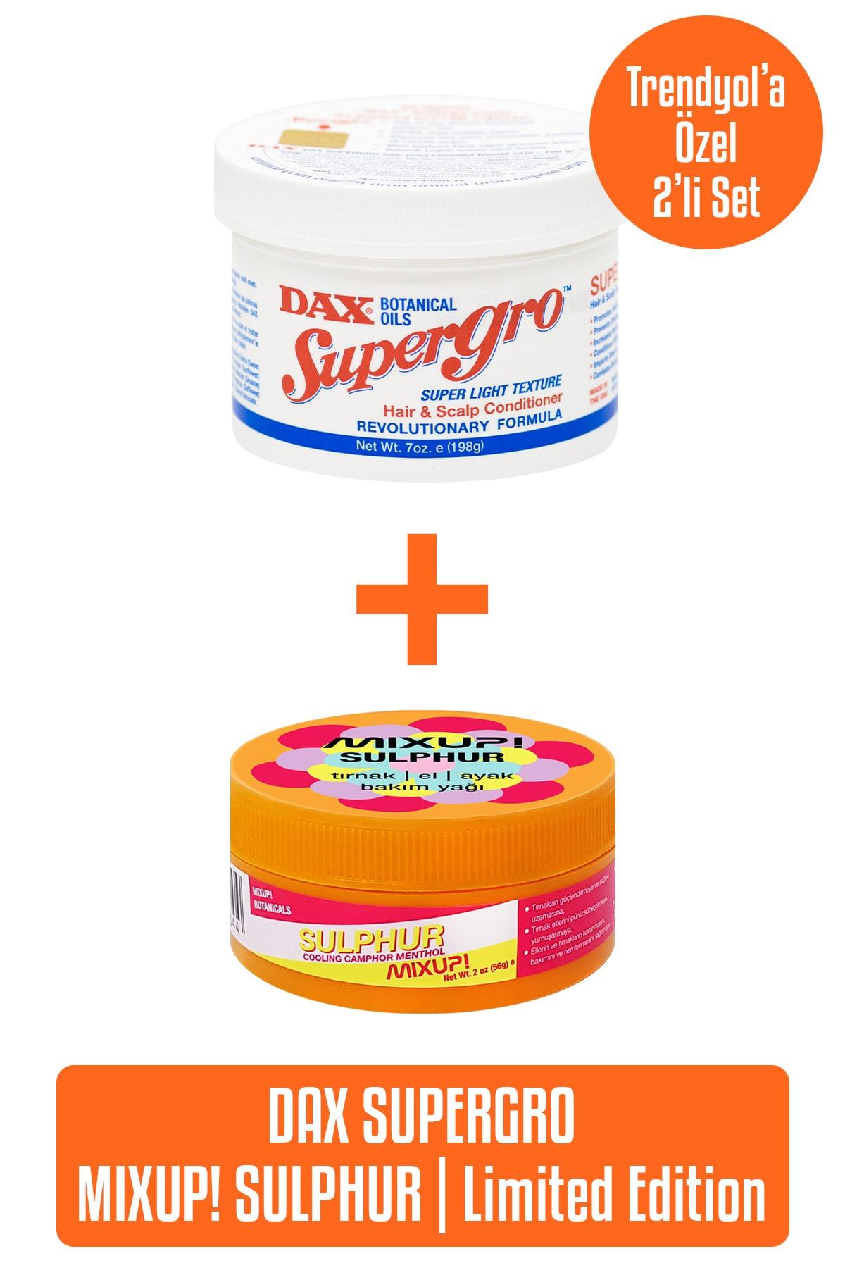 Dax Supergro 198 g - Yavaş Uzayan Saçlara Özel Saç Bakım Yağı X Limited Edition Mixup! Sulphur 56 g 0