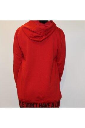 Giraffe Unisex Kırmızı Pls18 Retro Oversize Kapşonlu Fermuarlı Sweatshirt 1