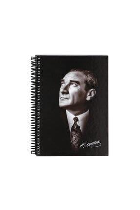Keskin Color Yayınları Keskin Color Atatürk 14x20 80 Yaprak Sert Kapak Çizgili Defter 0