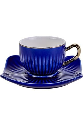 Emsan Nasip 6lı Mavi Kahve Fincan Takımı 0