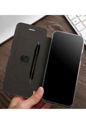 Omelo Samsung Galaxy A70 Kılıf Flip Cover Gizli Mıknatıslı Dikişsiz Standlı Ön Arka Koruma 1