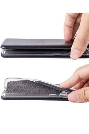 Omelo Samsung Galaxy A70 Kılıf Flip Cover Gizli Mıknatıslı Dikişsiz Standlı Ön Arka Koruma 2