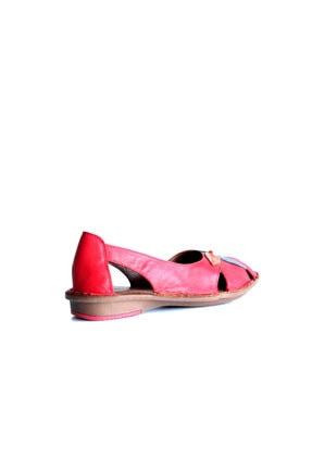 Beta Shoes Kadın Kırmızı Deri Ayakkabı 2