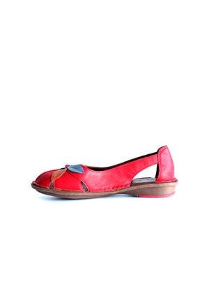 Beta Shoes Kadın Kırmızı Deri Ayakkabı 3