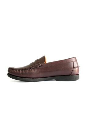 Beta Shoes Erkek Bordo Deri Ayakkabı 4