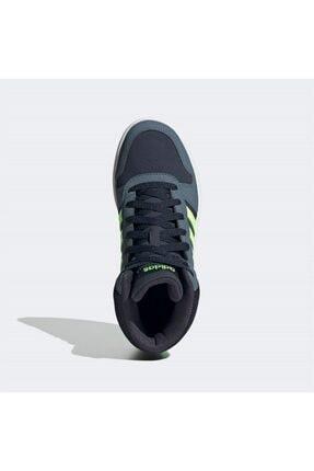 adidas Erkek Siyah Yeşil Şerit Detaylı Bağcıklı Basketbol Ayakkabısı 2