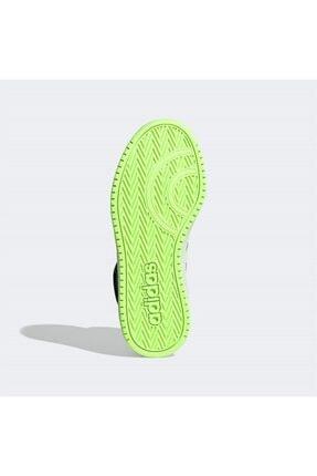 adidas Erkek Siyah Yeşil Şerit Detaylı Bağcıklı Basketbol Ayakkabısı 3