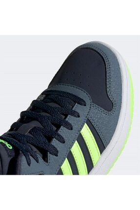 adidas Erkek Siyah Yeşil Şerit Detaylı Bağcıklı Basketbol Ayakkabısı 4