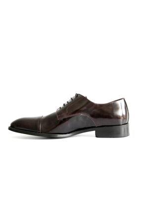 Beta Shoes Erkek Bordo League Deri Ayakkabı 4